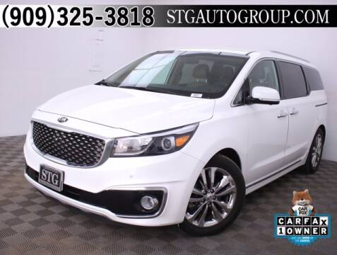 2017 Kia Sedona for sale at STG Auto Group in Montclair CA