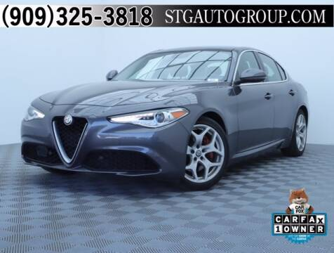 2018 Alfa Romeo Giulia for sale at STG Auto Group in Montclair CA