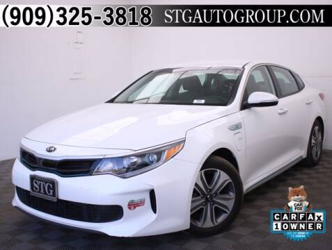 2017 Kia Optima Plug-In Hybrid for sale at STG Auto Group in Montclair CA