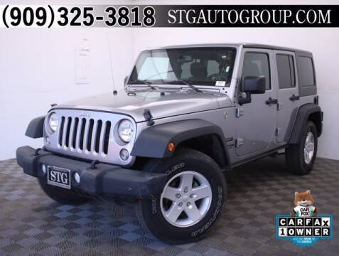2018 Jeep Wrangler JK Unlimited for sale at STG Auto Group in Montclair CA