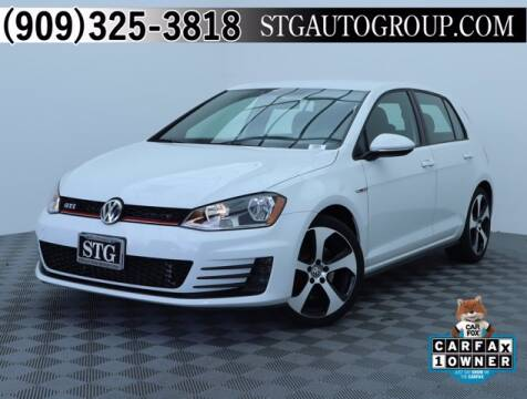 2017 Volkswagen Golf GTI for sale at STG Auto Group in Montclair CA
