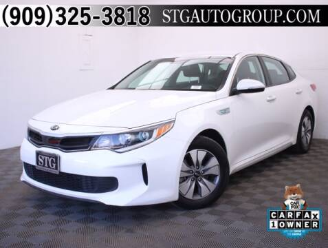 2017 Kia Optima Hybrid for sale at STG Auto Group in Montclair CA
