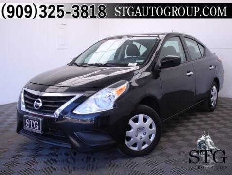 2018 Nissan Versa for sale at STG Auto Group in Montclair CA