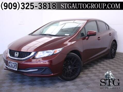 2015 Honda Civic for sale at STG Auto Group in Montclair CA