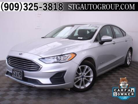 2019 Ford Fusion Hybrid for sale at STG Auto Group in Montclair CA