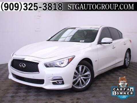 2016 Infiniti Q50 for sale at STG Auto Group in Montclair CA