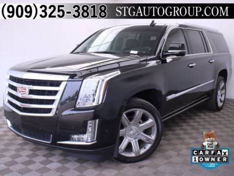 2017 Cadillac Escalade ESV for sale at STG Auto Group in Montclair CA