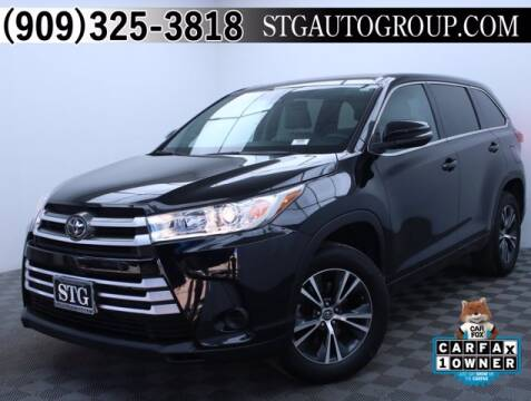 2017 Toyota Highlander for sale at STG Auto Group in Montclair CA