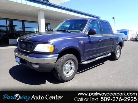 2003 Ford F-150 for sale at PARKWAY AUTO CENTER AND RV in Deer Park WA