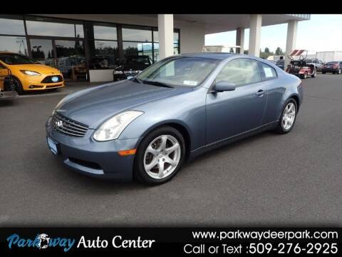 2006 Infiniti G35 for sale at PARKWAY AUTO CENTER AND RV in Deer Park WA
