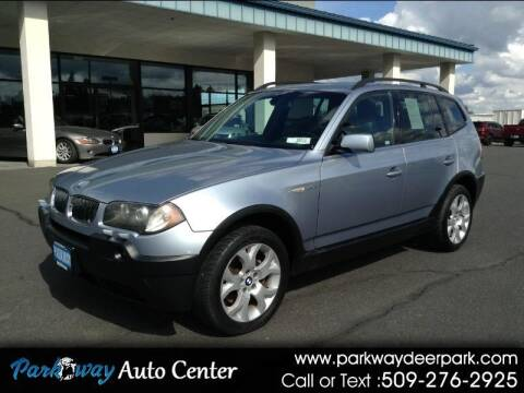2005 BMW X3 for sale at PARKWAY AUTO CENTER AND RV in Deer Park WA