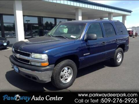 2003 Chevrolet Tahoe for sale at PARKWAY AUTO CENTER AND RV in Deer Park WA