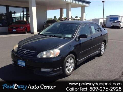 2003 Toyota Corolla for sale at PARKWAY AUTO CENTER AND RV in Deer Park WA