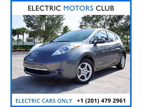 2014 Nissan LEAF for sale at Electric Motors Club in Lauderhill FL