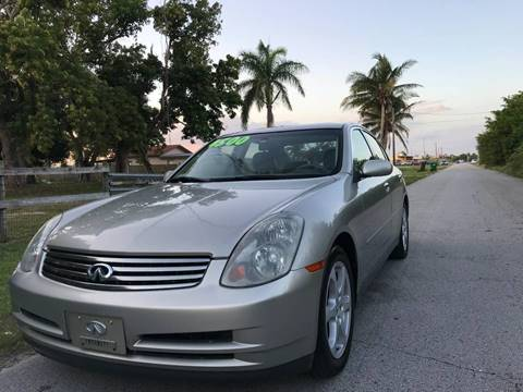 2003 Infiniti G35 for sale at LA Motors Miami in Miami FL