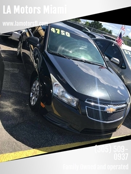 2012 Chevrolet Cruze for sale at LA Motors Miami in Miami FL