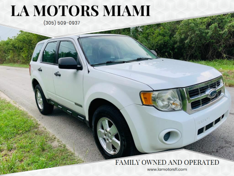 2008 Ford Escape for sale at LA Motors Miami in Miami FL