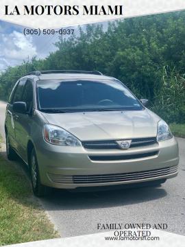 2005 Toyota Sienna for sale at LA Motors Miami in Miami FL