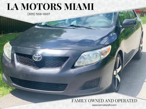 2009 Toyota Corolla for sale at LA Motors Miami in Miami FL