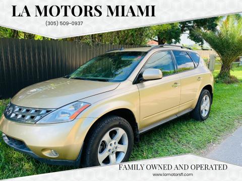 2003 Nissan Murano for sale at LA Motors Miami in Miami FL