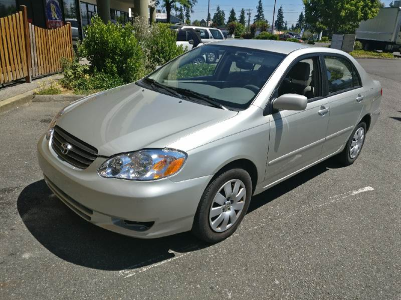 2003 Toyota Corolla For Sale At HWY 99 Motors In Everett WA