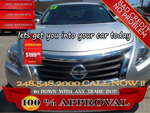 2013 Nissan Altima for sale in Hazel Park, MI
