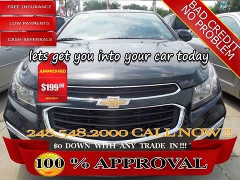 2016 Chevrolet Cruze Limited for sale in Hazel Park, MI