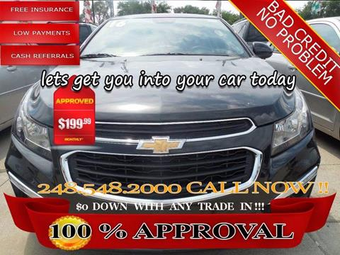 2016 Chevrolet Cruze Limited for sale in Hazel Park, MI