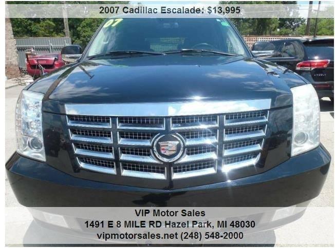 2007 Cadillac Escalade In Hazel Park Mi Vip Motor Sales
