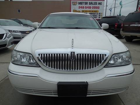 2000 lincoln town car cartier owners manual