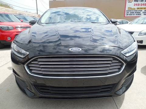 2016 Ford Fusion Hybrid for sale in Hazel Park, MI