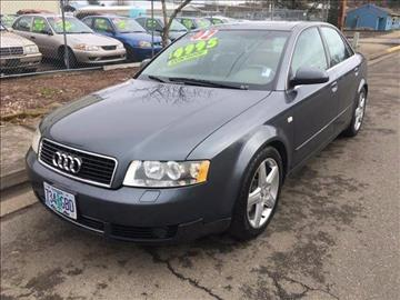 2002 Audi A4 for sale at Car Safari LLC in Independence OR