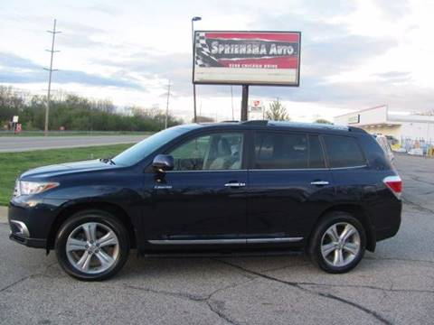 2013 Toyota Highlander for sale at Spriensma Auto in Hudsonville MI