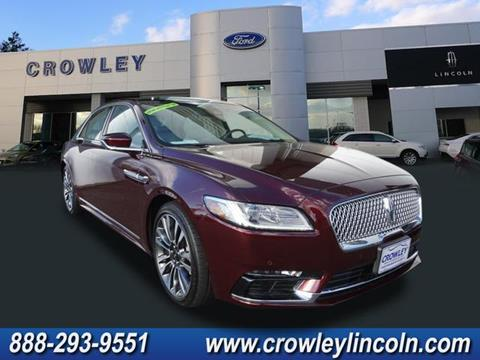 2017 Lincoln Continental for sale in Plainville CT