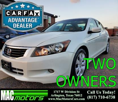 2009 Honda Accord for sale in Arlington, TX