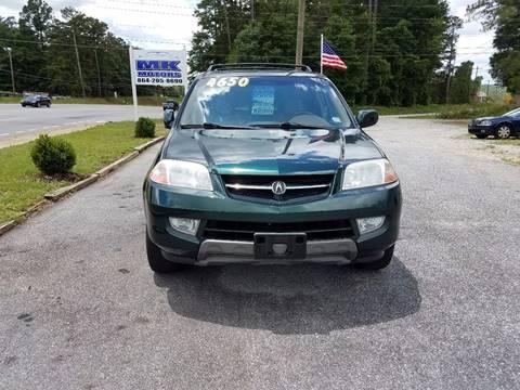 2001 Acura MDX for sale at Lyman Autogroup LLC. in Lyman SC