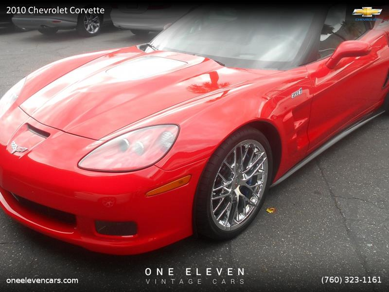 2010 Chevrolet Corvette For Sale At 111 Vintage Cars In Palm Springs CA