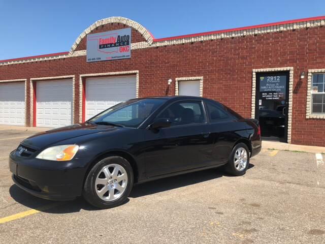 2003 Honda Civic For Sale At Family Auto Finance OKC LLC In Oklahoma City OK