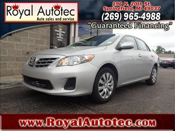 2013 Toyota Corolla for sale at Royal AutoTec in Battle Creek MI