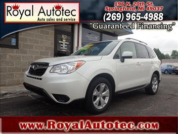 2015 Subaru Forester for sale at Royal AutoTec in Battle Creek MI