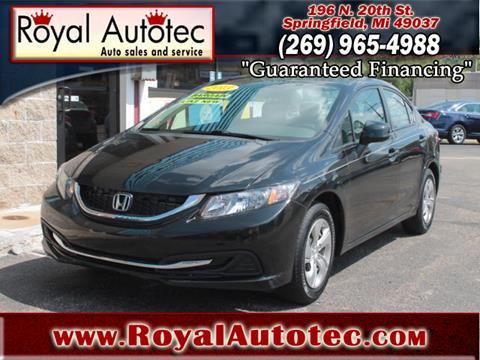 2013 Honda Civic for sale at Royal AutoTec in Battle Creek MI