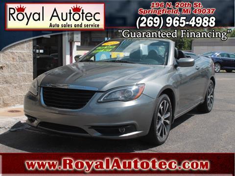 2011 Chrysler 200 Convertible for sale at Royal AutoTec in Battle Creek MI