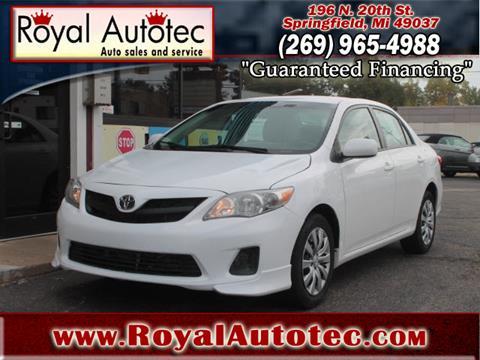 2012 Toyota Corolla for sale at Royal AutoTec in Battle Creek MI