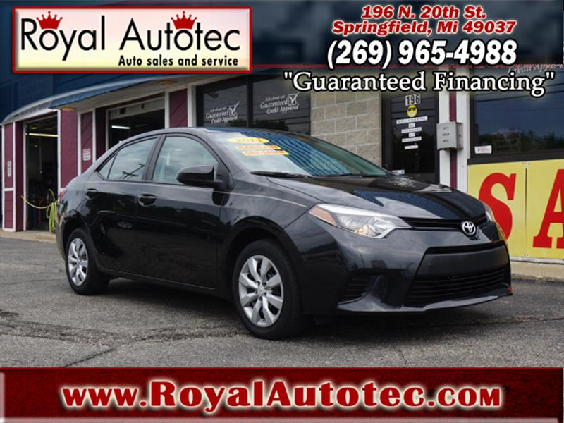2014 Toyota Corolla For Sale At Royal AutoTec In Battle Creek MI