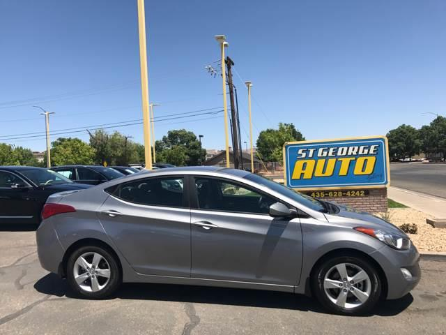 2013 Hyundai Elantra for sale at St George Auto Gallery in St George UT