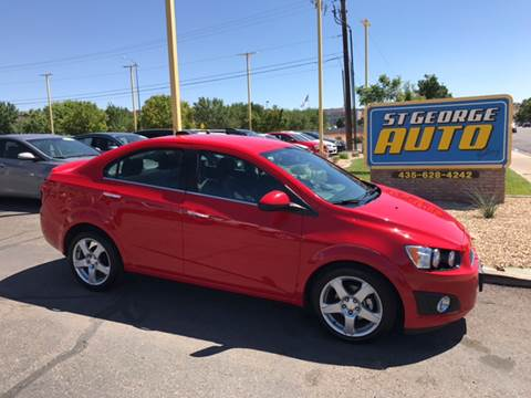 2015 Chevrolet Sonic for sale at St George Auto Gallery in St George UT