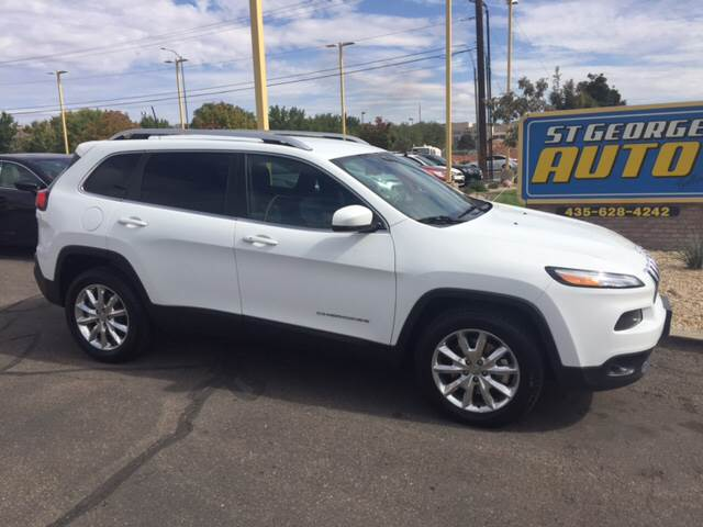 2016 Jeep Cherokee for sale at St George Auto Gallery in St George UT