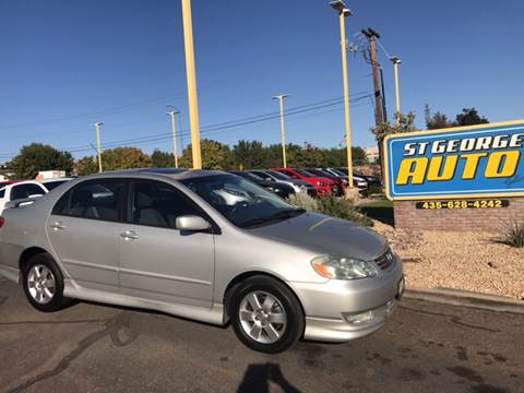 2004 Toyota Corolla for sale at St George Auto Gallery in St George UT