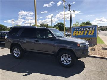 2016 Toyota 4Runner for sale at St George Auto Gallery in St George UT