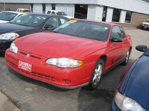 Chevrolet monte carlo for sale in iowa for Champion motors waterloo iowa